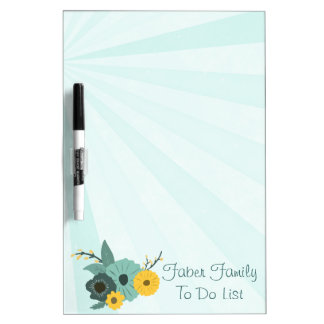 Floral Family To Do List Dry-Erase Whiteboard