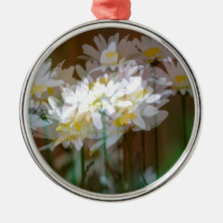 Floral Fantasies Silver-Colored Round Decoration