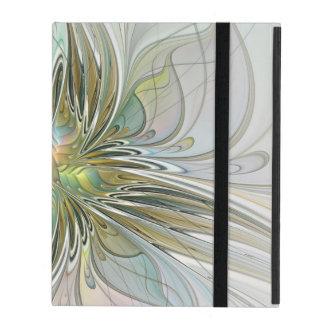 Floral Fantasy, Abstract Fractal Art iPad Case