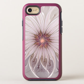 Floral Fantasy, Abstract Modern Pastel Flower OtterBox Symmetry iPhone 8/7 Case