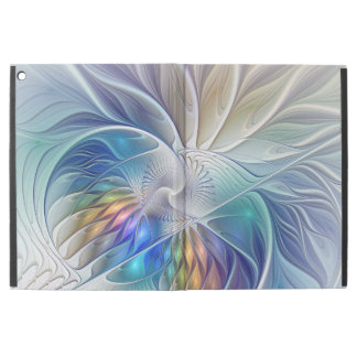 "Floral Fantasy, Colorful Abstract Fractal Flower iPad Pro 12.9"" Case"