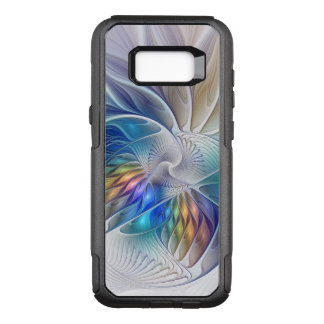 Floral Fantasy, Colorful Abstract Fractal Flower OtterBox Commuter Samsung Galaxy S8+ Case