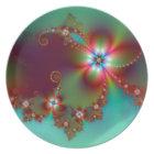 Floral Fantasy Fractal Plate