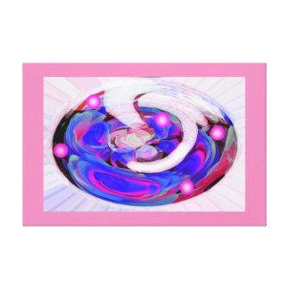 Floral fantasy gallery wrap canvas