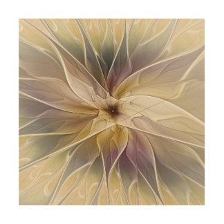 Floral Fantasy Gold Aubergine Abstract Fractal Art