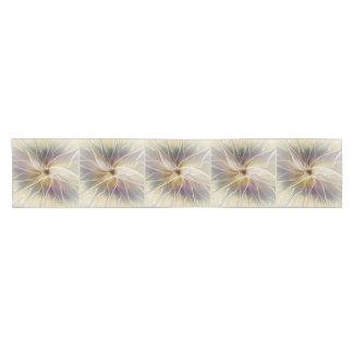 Floral Fantasy Gold Aubergine Abstract Fractal Art Short Table Runner