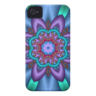 Floral fantasy in Purple and Blue iPhone 4 Covers