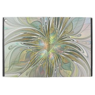 Floral Fantasy Modern Fractal Art Flower With Gold