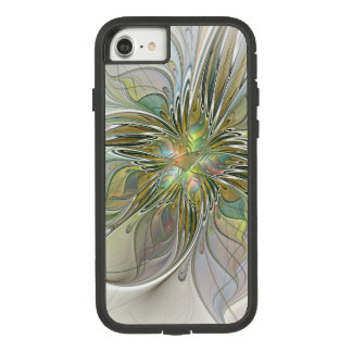 Floral Fantasy Modern Fractal Art Flower With Gold Case-Mate Tough Extreme iPhone 8/7 Case