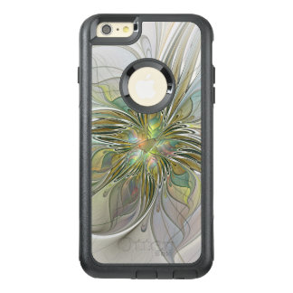 Floral Fantasy Modern Fractal Art Flower With Gold OtterBox iPhone 6/6s Plus Case