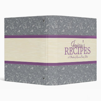 Floral & Filigree Recipe Binder