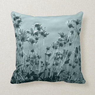 Floral Fine Art Photograph in Monochrome Cushion