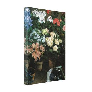 Floral Fine Art with Pansies Canvas Wrap Canvas Print