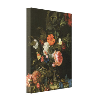 Floral Fine Art with Roses Canvas Wrap Canvas Print