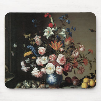 Floral Fine Art with Roses Lillies Mouse Pad