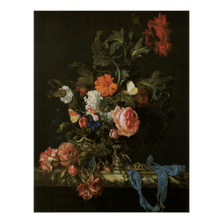 Floral Fine Art with Roses Poster