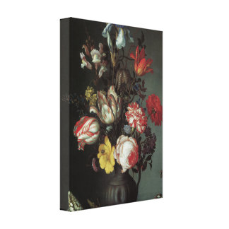 Floral Fine Art with Roses, Tulips Canvas Wrap Canvas Print