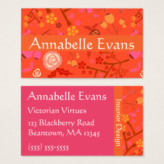 Floral Flash Business Card
