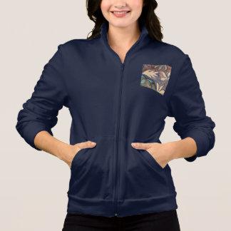 floral fleece jacket