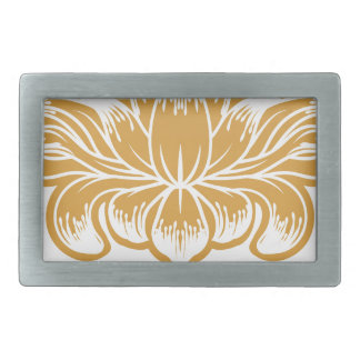 Floral Flower Abstract  Design Concept Icon Belt Buckles