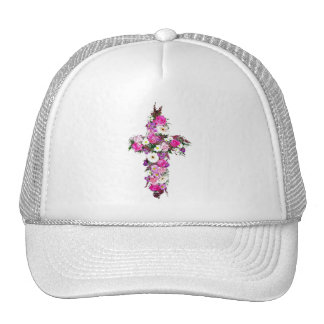 Floral/Flower Cross Cap