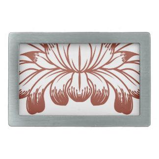 Floral Flower Design Concept Icon Belt Buckles