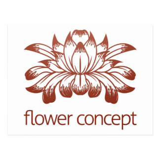 Floral Flower Design Concept Icon Postcard