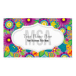 Floral Flower Power Salon Colourful Blooms Pack Of Standard Business Cards
