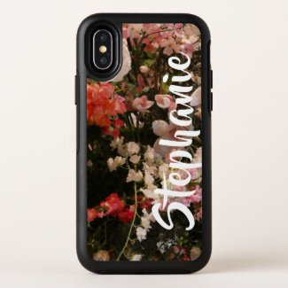 Floral Flowers Pink White Otterbox Personalised OtterBox iPhone Case