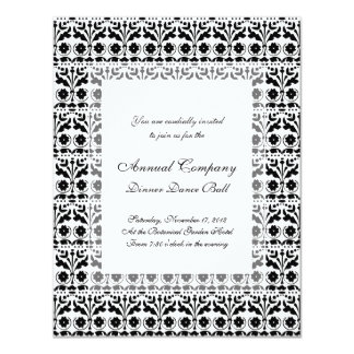 Floral Folk Art Papercut Style Pattern 11 Cm X 14 Cm Invitation Card