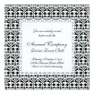 Floral Folk Art Papercut Style Pattern 13 Cm X 13 Cm Square Invitation Card