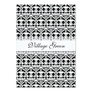Floral Folk Art Papercut Style Pattern 13 Cm X 18 Cm Invitation Card