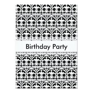 Floral Folk Art Papercut Style Pattern Personalized Invitations