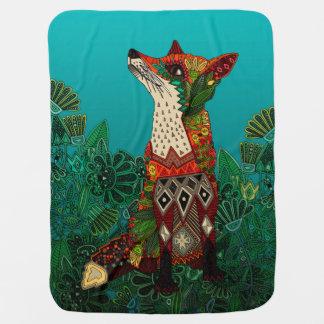 floral fox baby blanket