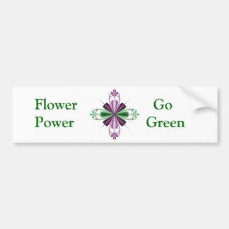 Floral Fractal Bumper Sticker