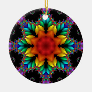 Floral Fractal Christmas Ornament