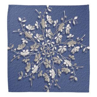 Floral fractal design bandana