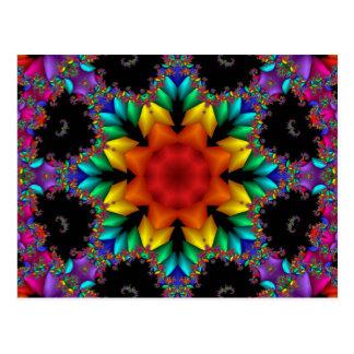 Floral Fractal Postcards