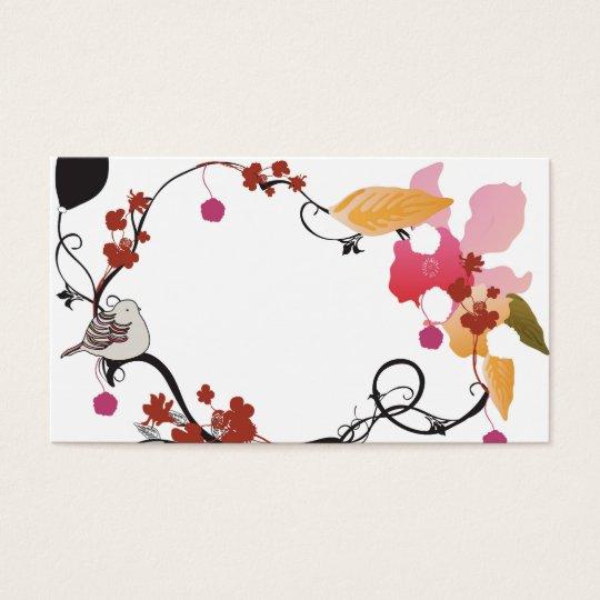 Floral frame Business Card