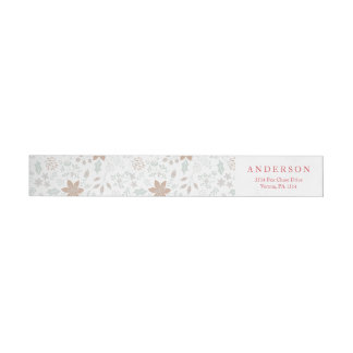 Floral Frame Holiday Wrap Around Address Labels