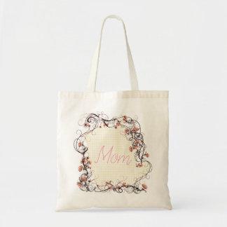 Floral Frame Mother's Day Design Tote Bag