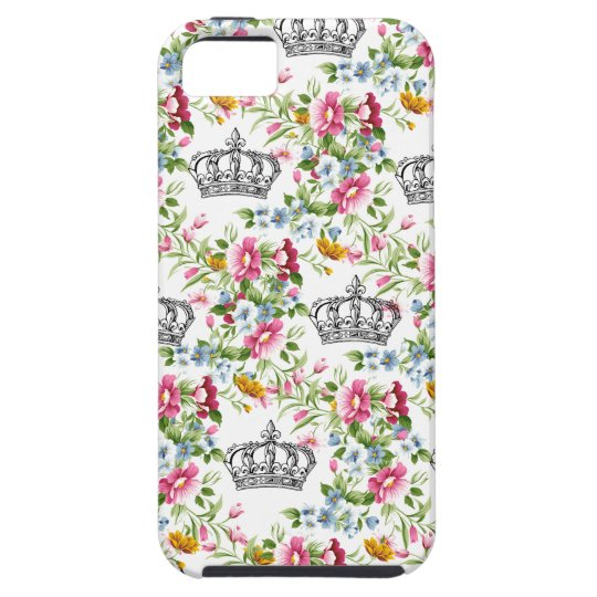 Floral French Crowns iPhone 5 Case