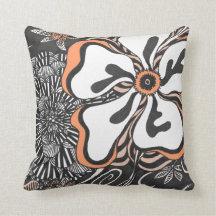 Floral Frill | Customisable Colour | Throw Pillow