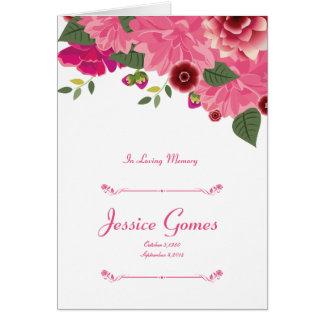 Floral Funeral Program Template