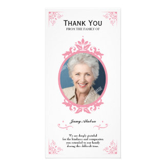 Floral Funeral Thank you Card