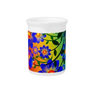 Floral Fusion Porcelain Pitcher