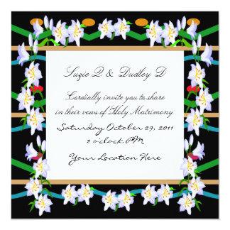 Floral Gala Invitation