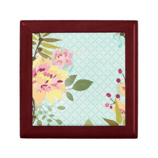 Floral Garden, Blue Background Gift Box