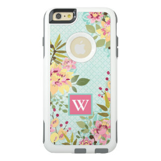 Floral Garden, Blue Background OtterBox iPhone 6/6s Plus Case