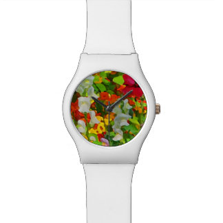 Floral Garden Colors Abstract Watch